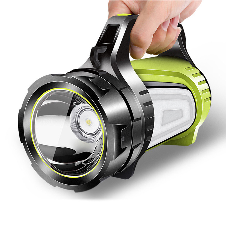 1000LM Rechargeable LED Flashlight High Power Portable Spotlights Outdoor Flashlight For Camping Handed Lamp Lantern Searchlight