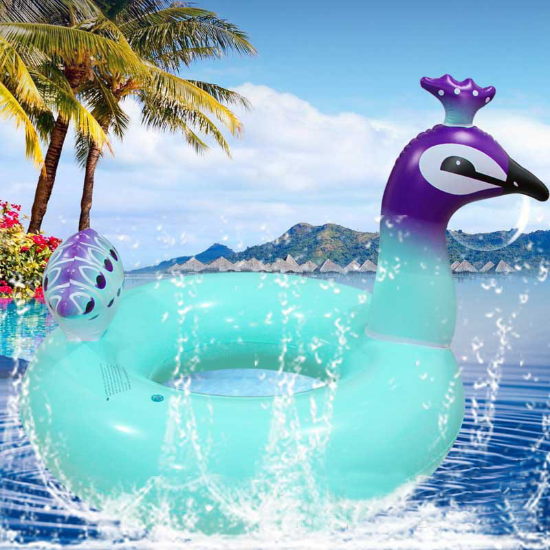 Adult Child Peacock Inflatable Swimming Circle Ring Party Inflatable Pool Float Party Toy Water Sport Swim Rings 90/120cm
