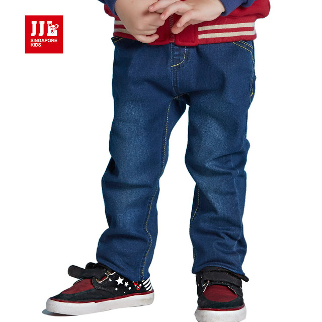 Calças de brim do bebê todder meninos denim calças cintura elástica macia infantil calças crianças calças 2016 outono crianças calças de brim de varejo