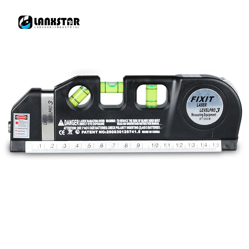 Durable 4 in 1 Infrared Laser Level Ruler Cross Line Laser Meter Tape 2.5M Measurment Multifunction Levelling Instrument mai spectrum mp110 laser marking instrument cast line instrument line level instrument whole sale retail