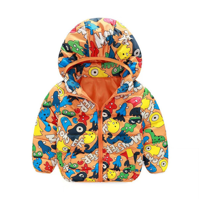 Children  clothes boy female children's wear new feather cotton baby zipper cotton-padded jacket in the fall and winter of 2016