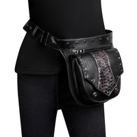 Vintage Leather Waist Bag Alligator Fanny Pack for Women Waist Pack Luxury Belt Bag Designer/Black Fanny Pack Bags