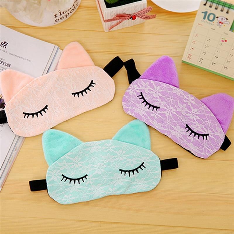Microfiber Animal Eye Cover Sleeping Mask Eyepatch Bandage Creative Travel Relax Blindfold Fox Cartoon Nap Soft Eyeshade
