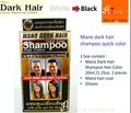 Free Shipping Mano dark hair shampoo quick color - White become Black (2X20 ml) + hair coat