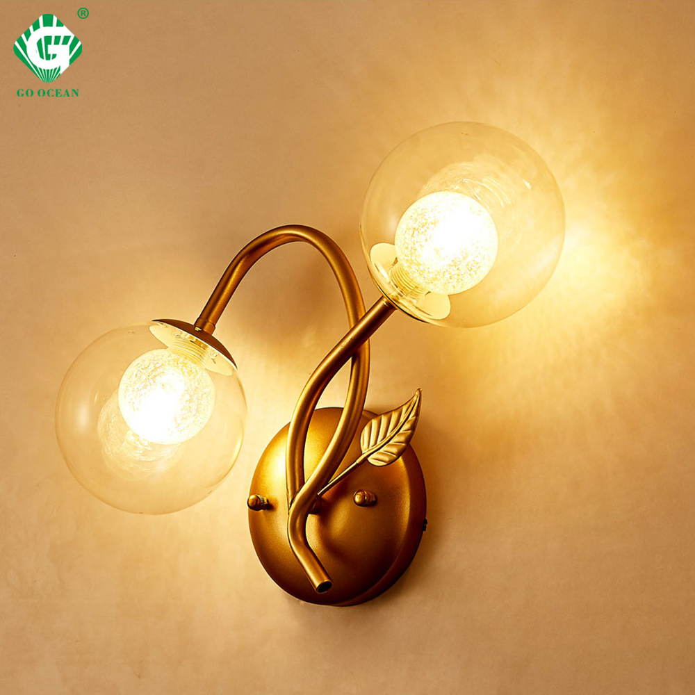 quality design 1a0b9 af544 US $41.98 20% OFF European Style Wall Lamps Bedroom G9 E27 Bulb 110V 220V  Room Loft Hotel Sconce Hallway Home Interior Wall Light Swing Arm Brass-in  ...