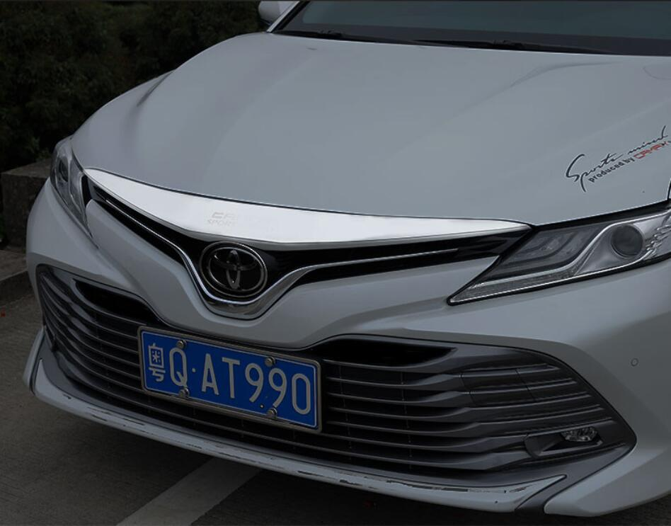 JINGHANG ABS Chrome pare-choc avant calandre moteur avant phare capots de bordure pour 18-19 Toyota camry 2018-2019