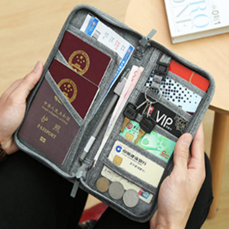 Passport Cover Travel Abroad Passport Holder Fold Card ID Holders Porta Credencial Foldable Accessories for Plane Ticket Credit in Card ID Holders from Luggage Bags