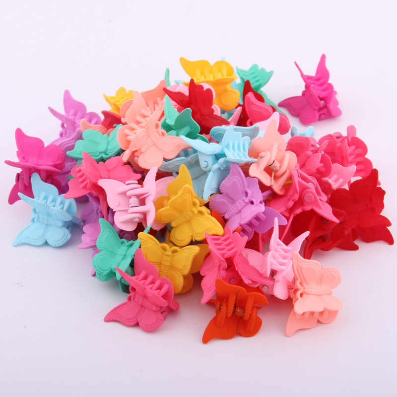 2019 Hair Accessories Mini Hair Claws For Baby Multi Colors Plastic Hair Clips Butterfly Design Hair Clamps For Children 20PCS