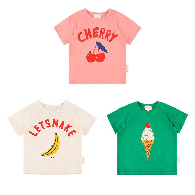 Enkelibb T-Shirt Ice-Cream Kids Tees Banana-Pattern Bebe Toddler Girl Tops Baby-Boys-Girls