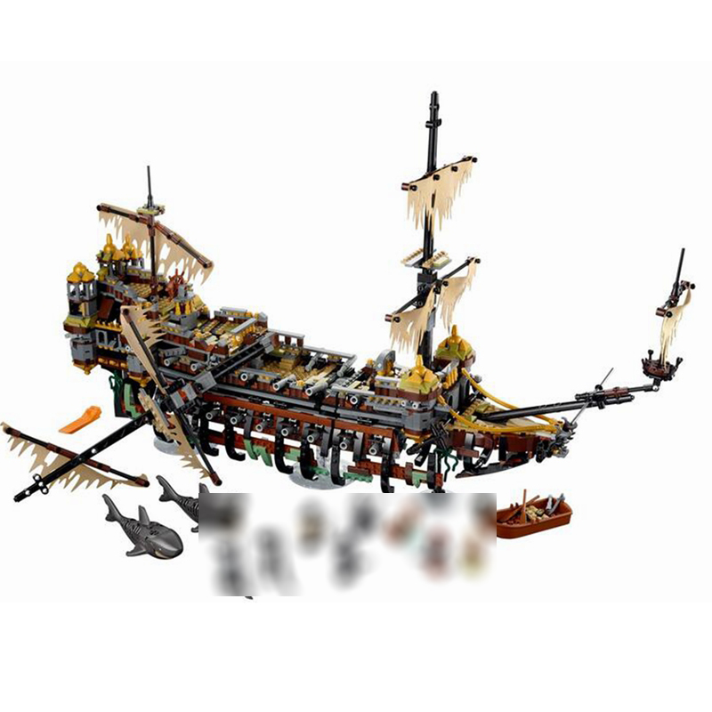 Compatible Pirate Of The Caribbean Ship The Slient Mary 2344Pcs Brick Set Building Blocks Toy For