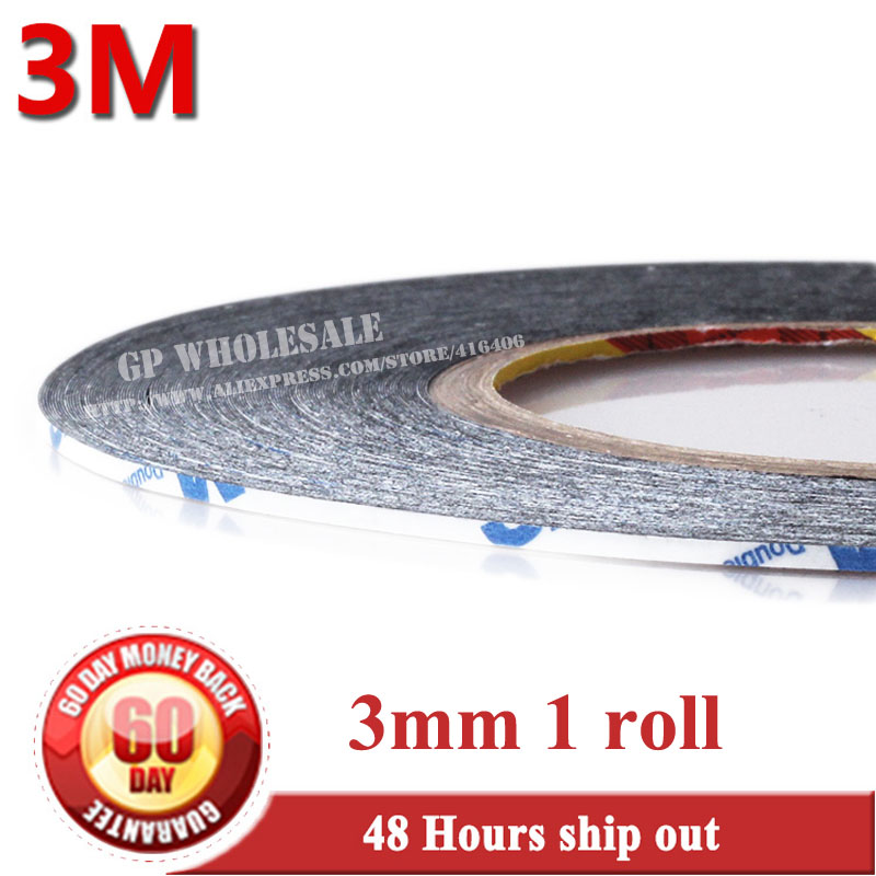 3mm*50 meters 3M Black Double Sided Tape Adhesive Sticky for Cellphone Mobilephone LCD/ Touch Screen/ Touch Pannel Repair 9448 1x 76mm 50m 3m 9448 black two sided tape for cellphone phone lcd touch panel dispaly screen housing repair