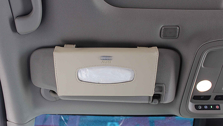 Car Sun Visor Leather Tissue Boxes For Audi Ford BMW Benz Volkswagen Cadillac Land Rover Auto Interior Decoration Accessorie in Tissue Boxes from Automobiles Motorcycles
