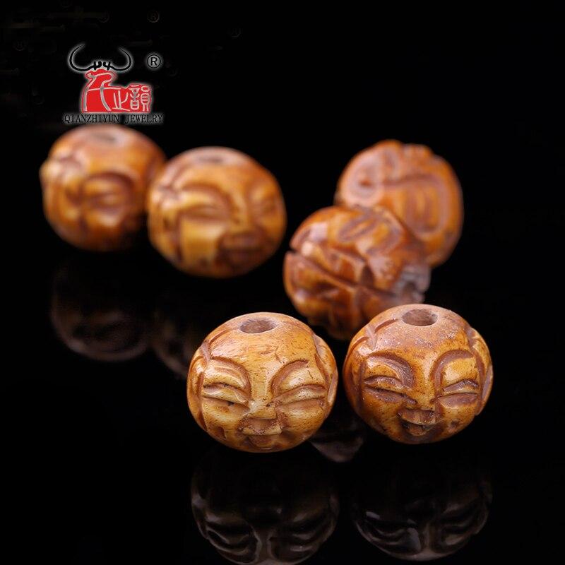 5pcs Natural Beef Bone Carving Buddha Face Beads Diy Bead Accessories Hole 1 5mm Beads Diy Diy Beadsface Beads Aliexpress