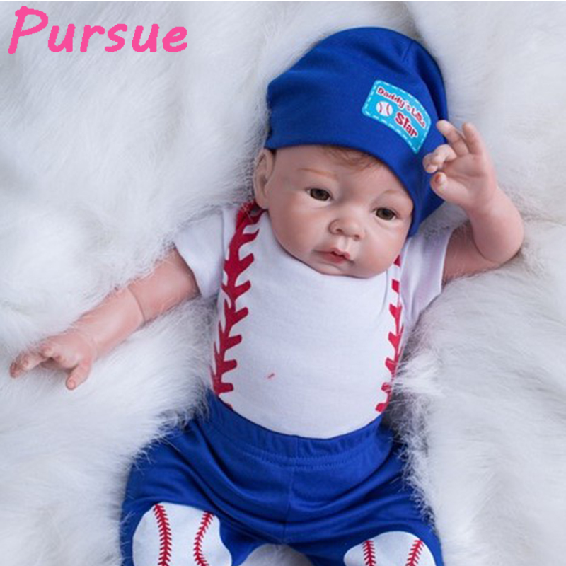 Pursue 55 cm Cheap Cute Silicone Lifelike Newborn Baby Dolls Reborn Baby Boy Dolls for Sale Reborn Silicone Baby Boy Dolls 55cm pursue 57cm newborn lifelike boy reborn baby dolls full body silicone reborn toddler dolls boy bebe reborn com corpo de silicone