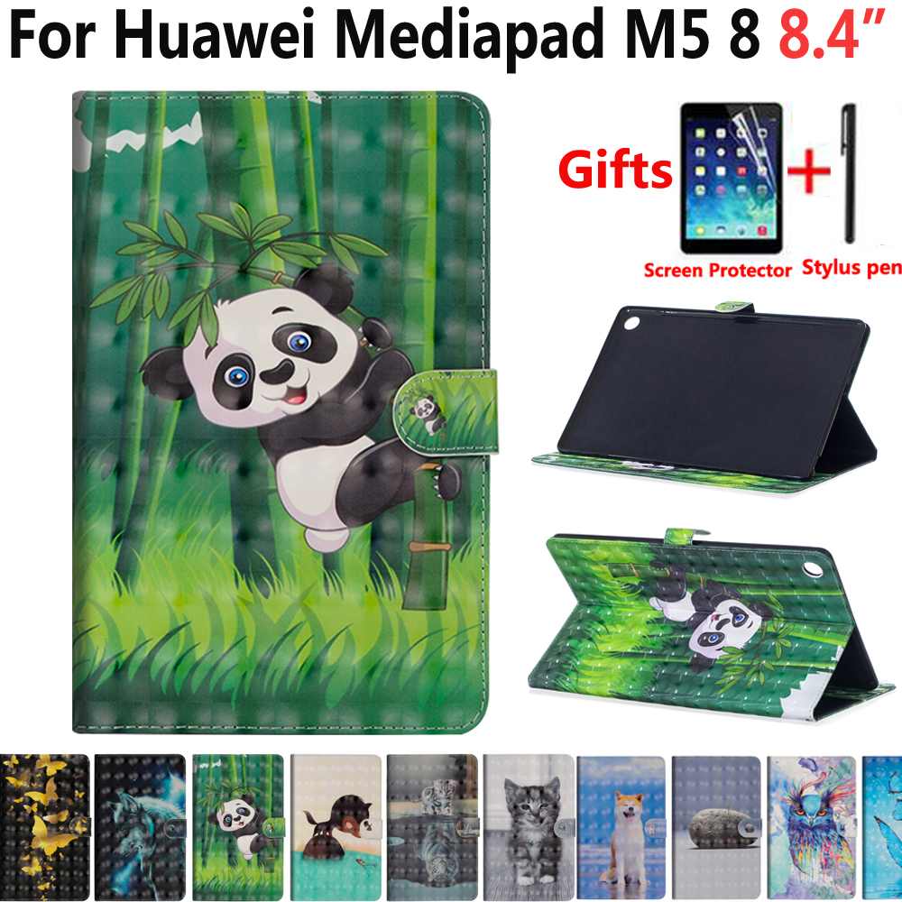 Animal Dog Cat Case For Huawei Mediapad M5 8 8.4