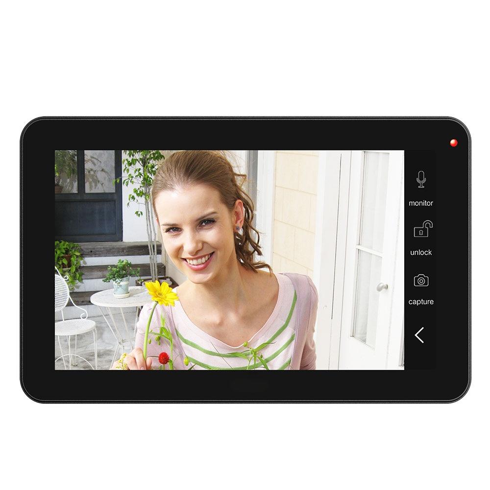 9 дюймов 2 Мониторы проводной Wi Fi видео телефон двери дверные звонки домофон системы с 1000TVL проводной IR CUT камера - 4