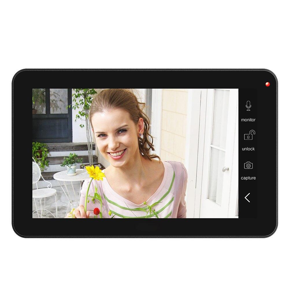 9 pouces 2 moniteurs filaire Wifi vidéo porte téléphone sonnette interphone système d'entrée avec 1000TVL filaire caméra IR CUT - 4