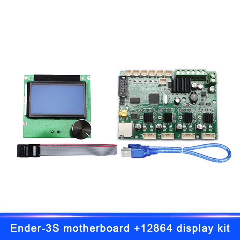 New Hot Remplacement Carte Mère Carte Mère + LCD Affichage Câbles Pour Ender-3S 3D Imprimante Creality