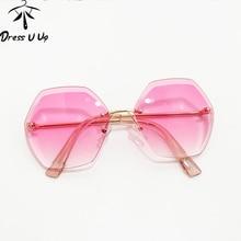 DRESSUUP обрезки для маленьких мальчиков и девочек очки детские без оправы градиентный Infantil солнцезащитные очки для детей модные UV400 оттенков