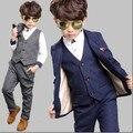 Engrosamiento Ropa Del Niño Para El Invierno muy Frío Boy Trajes Blazers Chaleco chaqueta Pantalón $ Number Piezas Conjuntos de Algodón Vestido Formal-acolchado