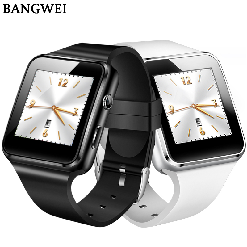 Men's Watches Bangwei New Smart Watch Men Casual Fashion Rubber Strap Smart Watch Women Sport Pedometer Led Stopwatch Support Sim Make Call