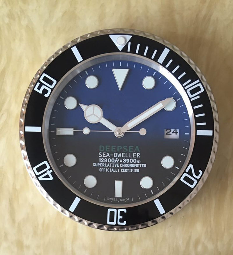 DEEPSEA DWELLER Metal Watch Wall Clock With Silent Art Watch Clocks On The Wall With Corresponding Logos