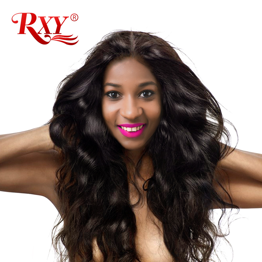 RXY Body Wave Hair Indian Remy Hair Bundles 1PC Natural Color 100% Human Hair Bundles Double Weft 10''-28'' Can Be Permed