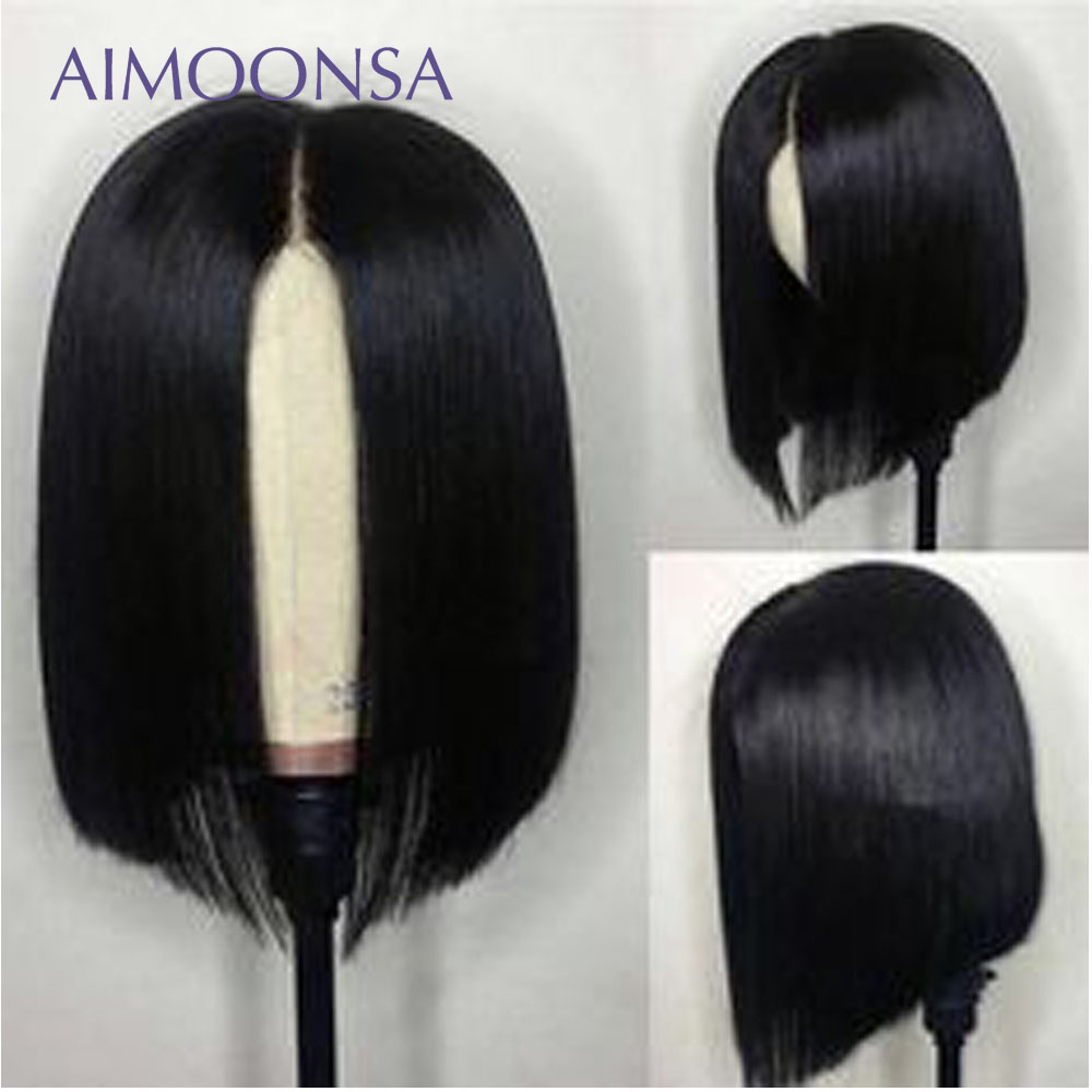 180 Density Straight Hair Wig Bob Wig 13x6 Lace Front Wig Human Hair Preplucked Lace Wig
