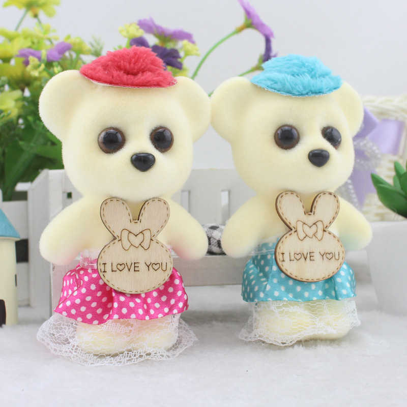 2292626ff68 12CM 10pcs lot For Christmas pp Cotton kid Toys Plush Doll Mini Small Teddy  Bear