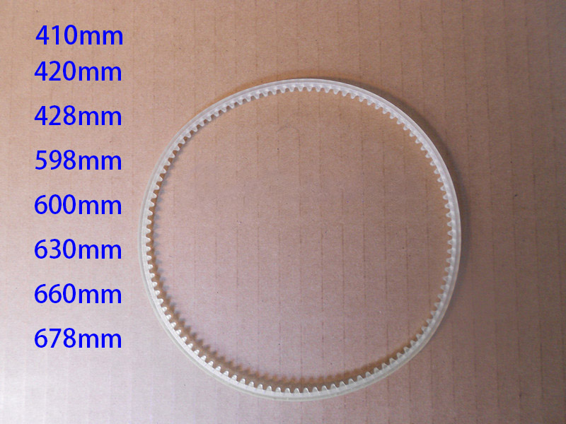 30pcs/lot  410mm 420mm 428mm 598mm 600mm 630mm Gear Belt Tooth Belt Spare Part For FR-900 Continuous Sealing Machine Band Sealer