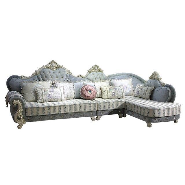 Günstige L Form Massivholz Stoff Sofa Couch Für Wohnzimmer Möbel