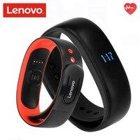 Lenovo HW02 Smart Polsband 3D G-sensor Bluetooth 4.2 Hartslag Moniter Stappenteller Fitness Tracker Compatibel met Android iOS