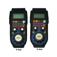 CNC 4 Axis Wireless Mach3 MPG Pendant 6 Axis Handwheel Controller CNC Machine Lathe Part Tools