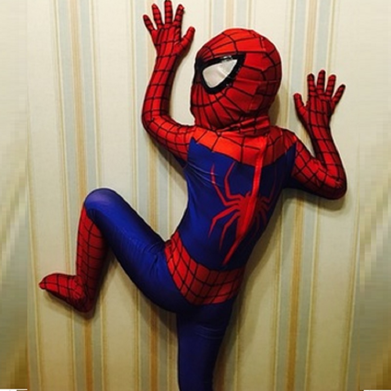 Useful Halloween Costumes For Children Animals For Kids Spandex Amazing Spiderman Costume Boys Spider Man Costume Cosplay Big Clearance Sale