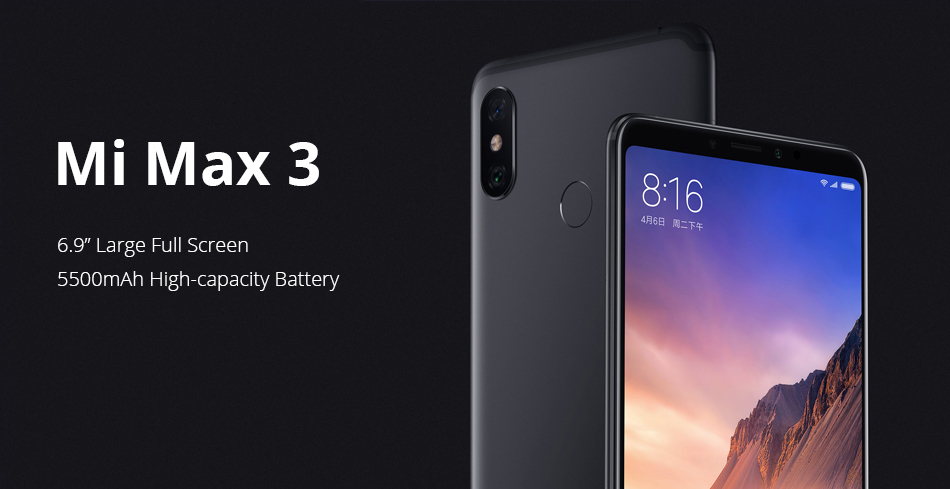"HTB1vD.dFH5YBuNjSspoq6zeNFXam Original Global ROM Xiaomi Mi Max 3 6GB 128GB Smartphone Snapdragon 636 Octa Core 6.9"" 2160x1080 Full Screen Dual Camera 5500mAh"