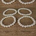 19 CM Marfil Plástico Pulseras de Perlas de Marfil de Moda Perla de Imitación Pulsera Joyas Joyería de Moda de Venta Caliente 2016 Nueva Jewellry
