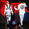 S 5XL Bar Male Singer DJ Chi Long GD Right Costumes Men S Wool White Cloth