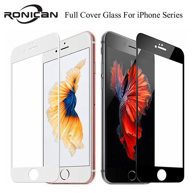 9H כיסוי מלא כיסוי מזג זכוכית עבור iPhone 7 8 6 6s בתוספת מסך מגן מגן סרט עבור iPhone X XS Max XR 5 5S SE