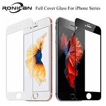 9H tam kapsama kapak temperli cam iPhone 7 8 6 6s artı ekran koruyucu koruyucu Film için iPhone X XS Max XR 5 5s SE