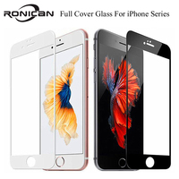 Funda de vidrio templado para iPhone, Protector de pantalla de vidrio templado de cobertura completa 9H para iPhone 7 8 6 6s Plus 11 12 Pro X XS Max XR