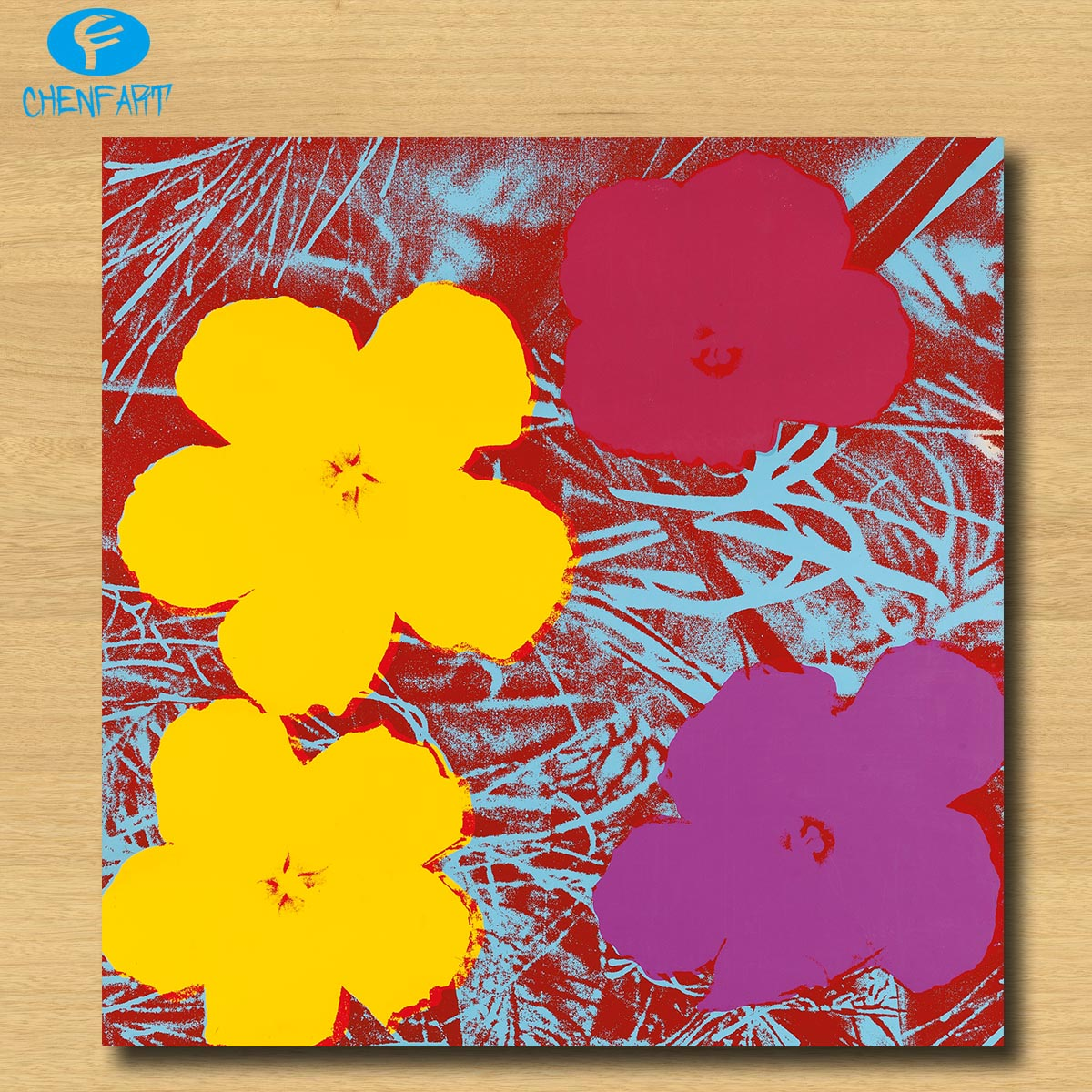 Huge FLOWERS (F. & S. II.71) by Andy Warhol wall art painting ...
