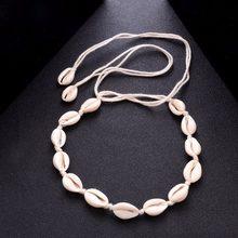 d29440af8539 Collar gargantilla de concha blanca para mujeres Lucky Maxi Chokers Collares  collar Collier Shellhard chicas verano playa joyerí.