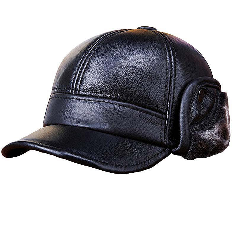 fitted brown leather baseball cap new genuine font hat caps