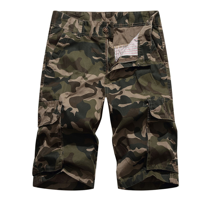 Shujin Summer Mens Shorts Cotton Camouflage Camo Shorts Males Casual Military Pockets Army Tactical Short Workout Clothing Mens