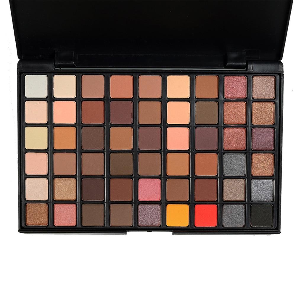 Portable Professional 54 Colors Eye Shadow Palette Fashion Cosmetic Powder Eyeshadow Palette Makeup Natural Shimmer Matt Set