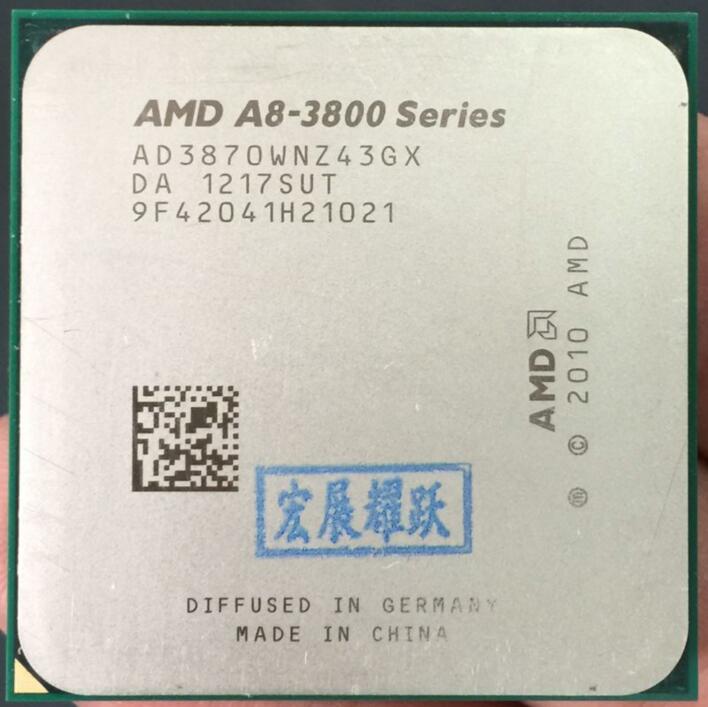 AMD A8 Series A8 3870K AD3870WNZ43GX A8 3870 Quad Core CPU 100% working properly Desktop Processor