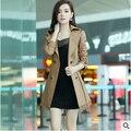 Mulheres 2015 nova coreano mulheres primavera e outono jaqueta casaco de grandes estaleiros longa seção frete grátis