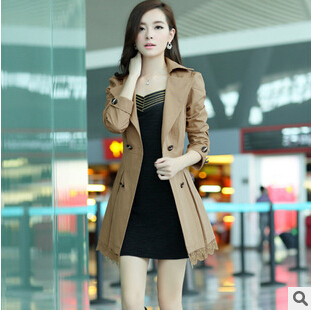 b944a9e90dc women jacket 2015 new Korean women s Spring and Autumn ladies windbreaker  coat big yards long section free shipping-in Basic Jackets from Women s  Clothing   ...