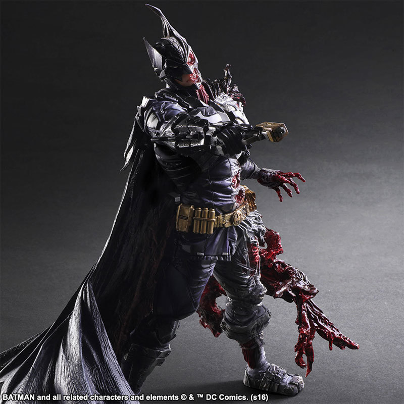 dc comics play arts kai batman double face doll pvc action figure collectible model toys 27cm kt3547 in action toy figures from toys hobbies on