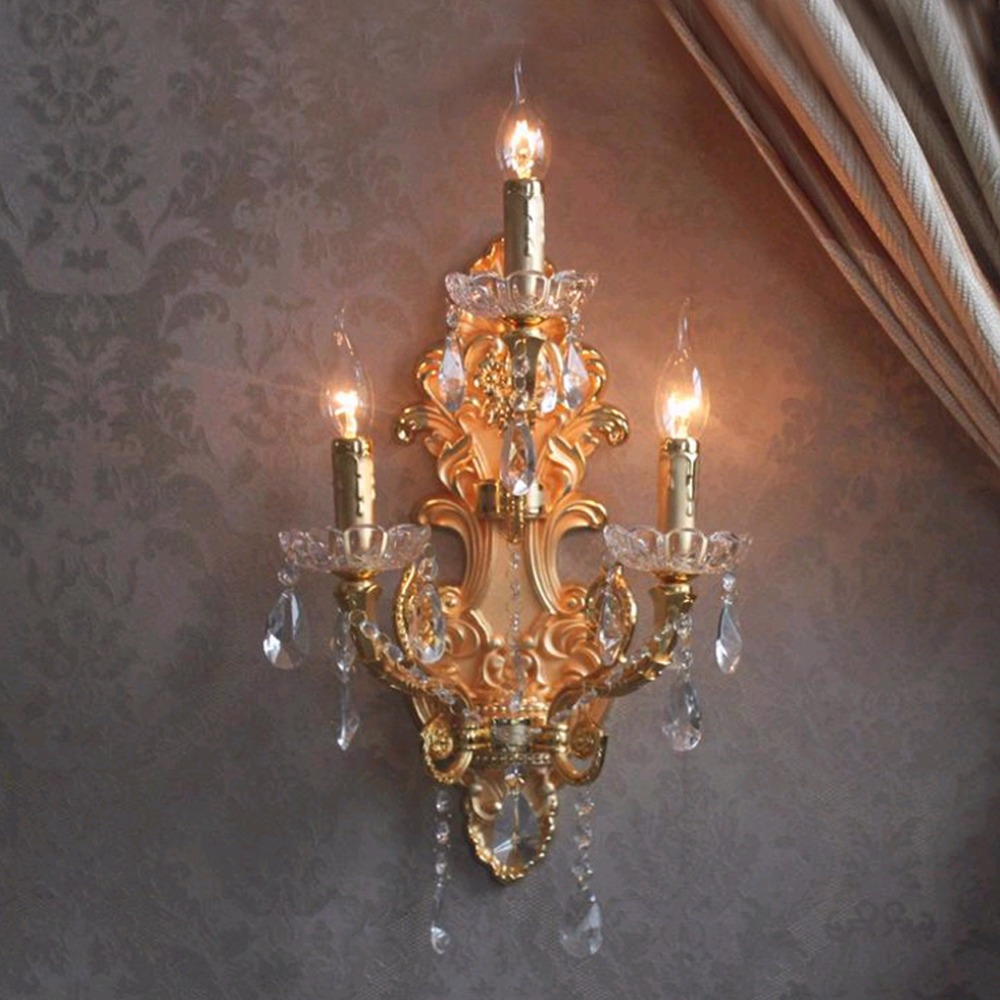 Modern Crystal LED Wall Lights Wrought Iron Wall Lamp ... on Contemporary Wall Sconces Lighting id=30234
